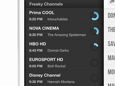 Freaky Channels Progress tv app ios iphone freak freaky channels progress