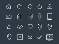 Outline Icon Set Preview