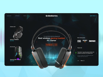 Steelseries product page