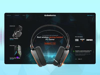 Steelseries product page games esports callofduty cod fortnite pubg artics7 artics products headphones headset steelseries product