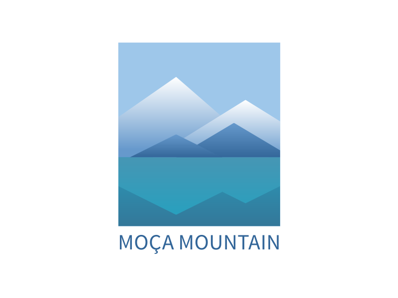 Moca Mountain moça mountain mountains vista sketch digital rough monogram