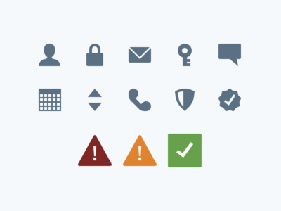 Login Process - All Icons