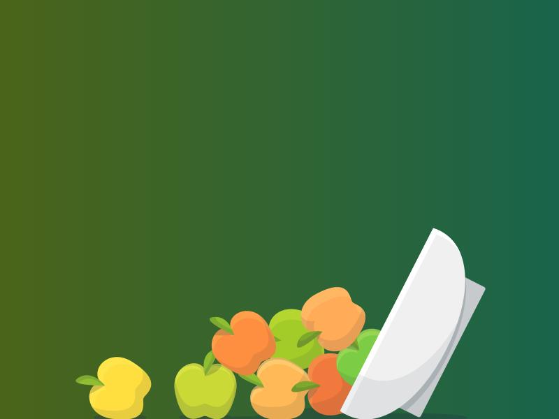 Toppled Apples illustration bowl error apples apple