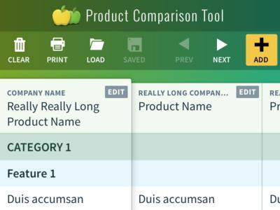Product Comparison