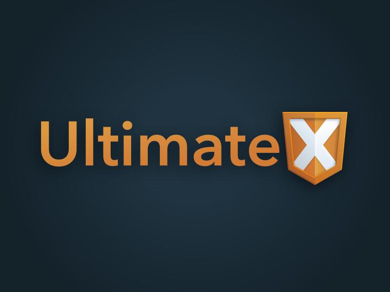 Ultimate X Logo shield ux html team logo agile identity logo