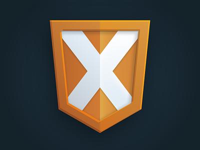Ultimate X Logo Detail shield ux html team logo agile identity logo