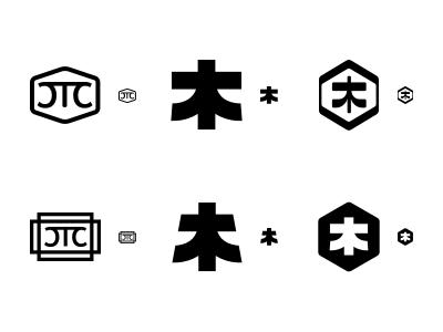 CTC — Monogram Scale Test stamp japanese wood monogram logo identity branding