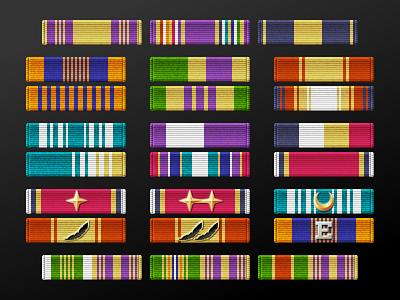 Fictional Military Ribbons nationstates fabric pins awards honors military ribbons