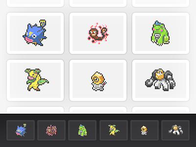 More PokéBox Sprites pokemon melmetal meltan meandrabel politoed twintied buzzqwil videogame sprites sprite pokebox pixel art