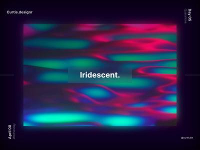 Iridescent Poster curtis.designr artwork animation noise photoshop poster art c4dart iridescent graphic c4d cinema4d curtis poster