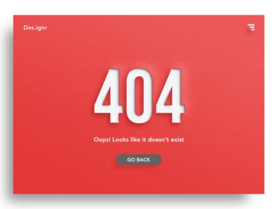 404 - Looks like it doesn't exist webdesign webpage error 404