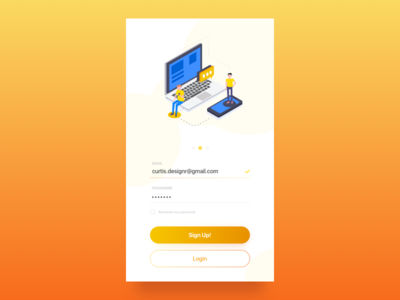 Daily UI #001 - Sign Up Screen