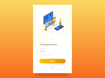 Daily UI #001 - Sign Up Screen curtis curtis.designr daily ui 001 sign up sign up form ui design daily ui ui dailyui