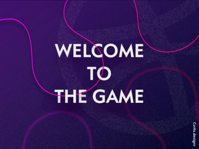 Congrat the game dribbble game pink purple game dribbble welcome invitation