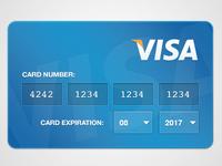 Credit Card input