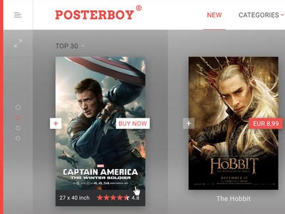 Poster shop homepage netflix gallery artist slider footer navigation hover listing movies movie poster homepage