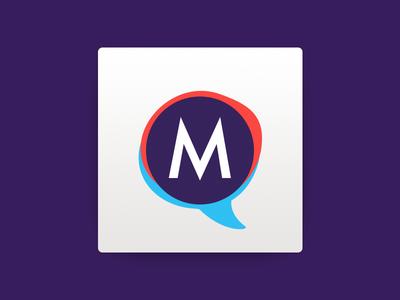 Brainstorm Logo branding brand macos osx dialog chat ios mac logo