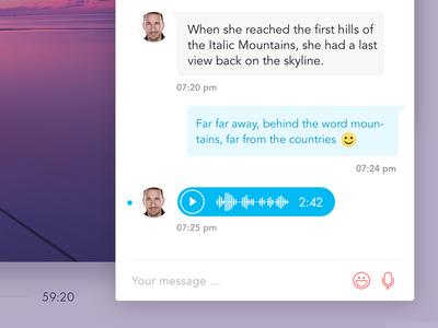 MentoringCamp Messenger player audio emoticons emojione mentoring messenger