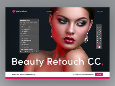 Landingpage - Photoshop Panel plugin retouch beauty extension panel photoshop