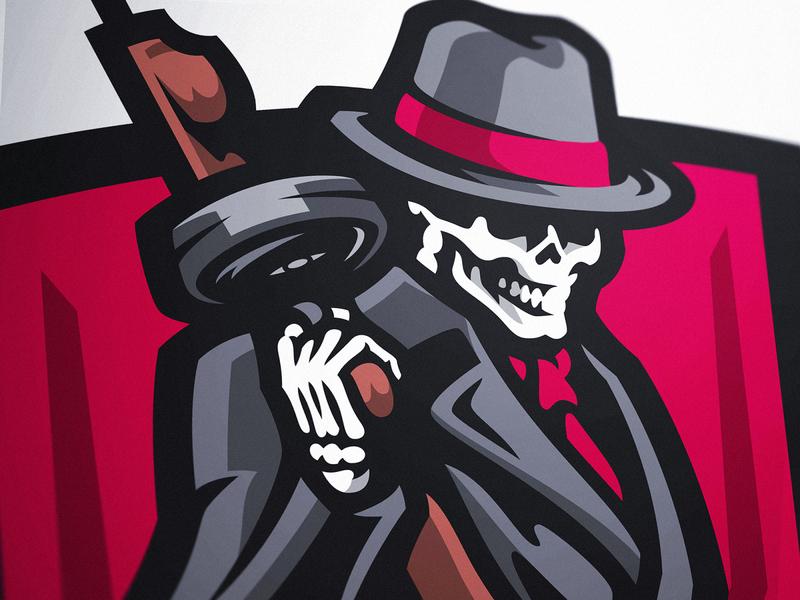 Mafia Skull Esports Logo