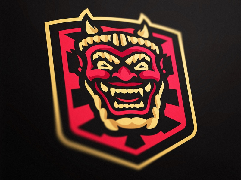 Raijin Logo Design custom logo logo design illustration dasedesigns demon japanese god of thunder gaming gaming logos esports sports logo mascotlogo gaming logo esports logo raijin