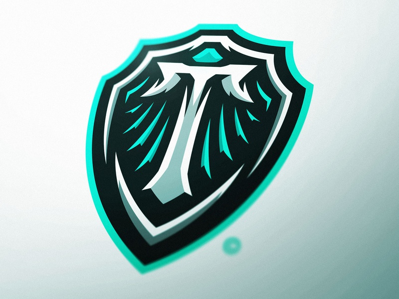 Triton Shield Logo Design