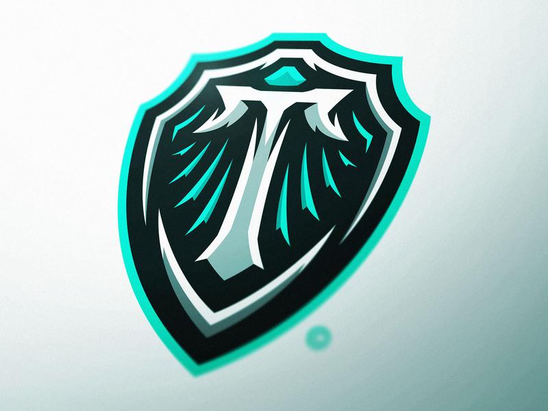 Triton Shield Logo Design metal gem sports logo gaming esports dasedesigns esports logos esports logo gaming logo icon logomark lettermark tritone t letter crest crest design crests shield triton