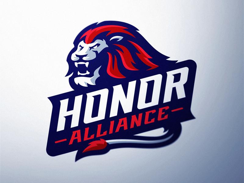 Honor Lion Esports Logo big cat lion dasedesigns mascot logo sports sports logo mascot illustration esports gaming custom typeface logotype custom logo