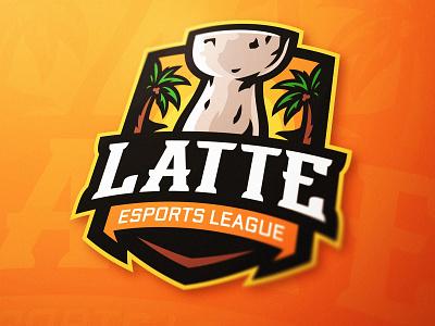 Latte Esports League Logo guam island logo logo illustration logo designer illustration design esports branding latte latte art gaming logo esports logo mascot logo sports logo illustration logo esports gaming dasedesigns