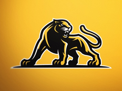 Knoxville Panthers V2 - Sports team mascot design iowa iowastate big cat panthers panther mascot logo mascot design panther mascot panthers logo knoxville panthers sports logo branding design sports mascot illustration logo esports gaming dasedesigns