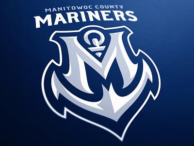 Manitowoc County Mariners - Anchor Sports Logo monitowoc wisconsin design sports mascot illustration logo esports gaming dasedesigns anchor anchor logo m logo mascot logo sports branding mariners logo mariners sports logo