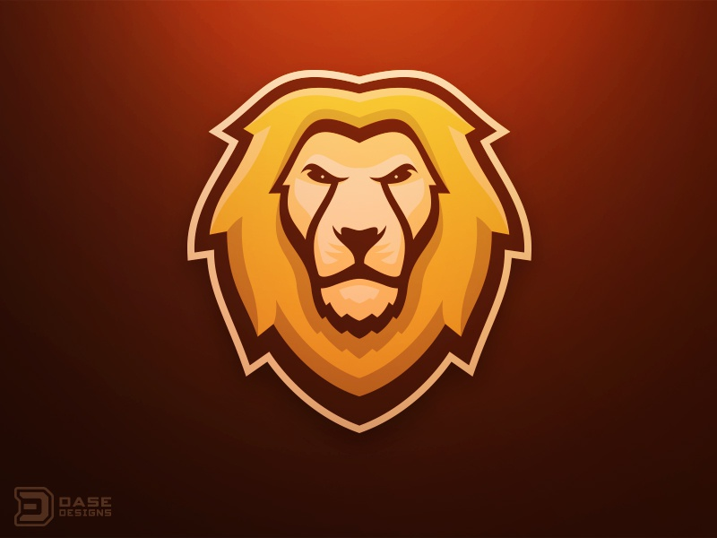 Lion Mascot Logo by De...