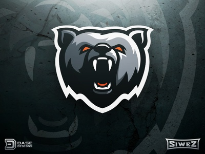 Bear Sports Logo identity premade mascot logo design dasedesigns mascot logo sports logo bear logo gaming logo sports mascot bear