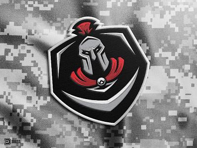 Spartan Secondary Logo Patch esports logo branding identity dasedesigns shield patch spartan mascot arma 3 arma logo gaming spartan
