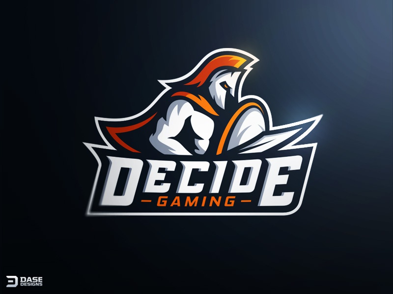 Decide gaming spartan mascot logo by derrick stratton for Logo creation wizard
