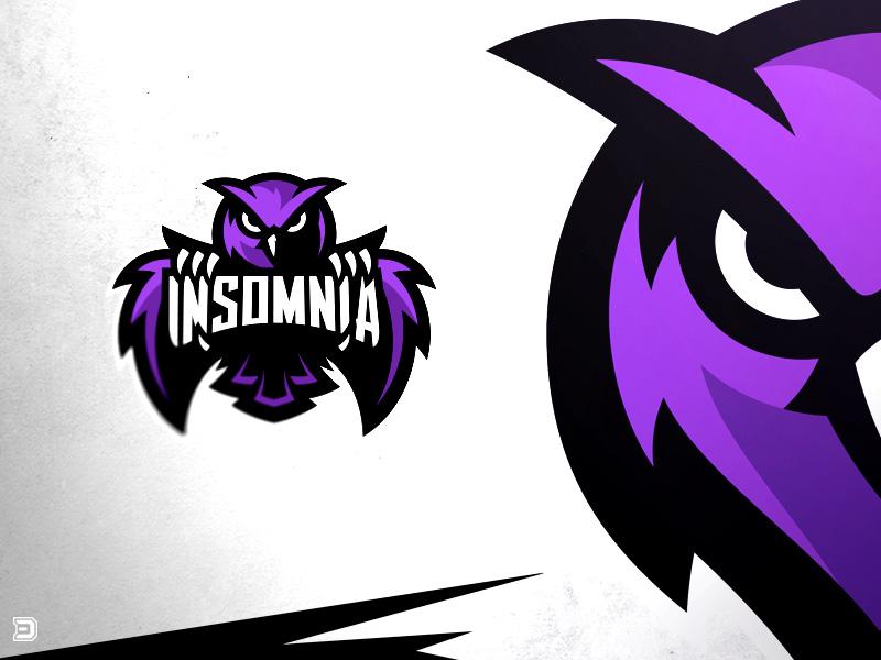 Insomnia Esports Owl Logo sports identity sports logo branding illustration dasedesigns gaming identity logo mascot owl esports