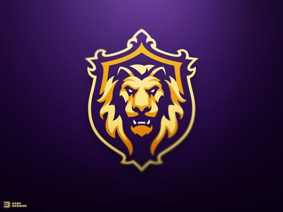 Royal Lion Sports Logo dasedesigns team gaming e-sports logo emblem gold mascot lion royal sports