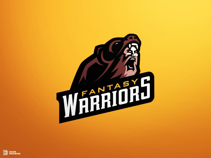 Fantasy Warriors Mascot Logo By Derrick Stratton Dribbble