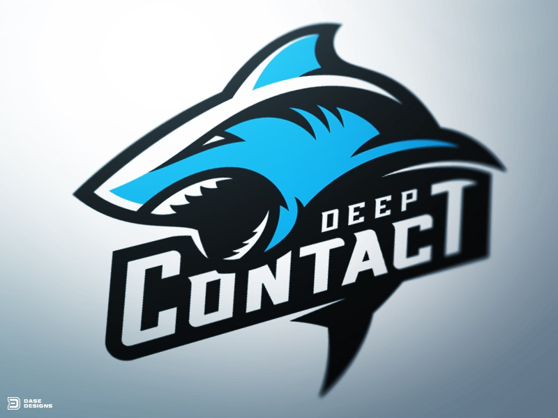 Shark Sports Logo logotype identity branding dasedesigns mascot logo esports gaming sports fish shark
