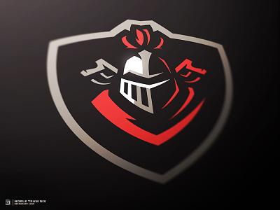 Knights Badge Logo dasedesigns shield greek badge warrior paintball gaming logo sports logo illustration logo knights knight