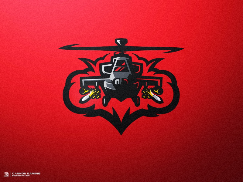 attack helicopter gaming logo by derrick stratton