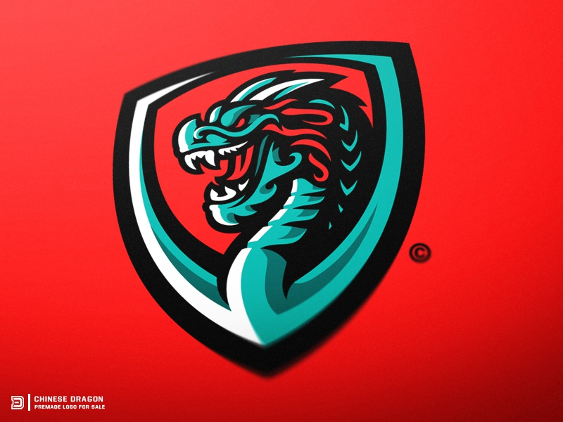 Chinese Dragon Mascot Logo by Derrick Stratton on Dribbble