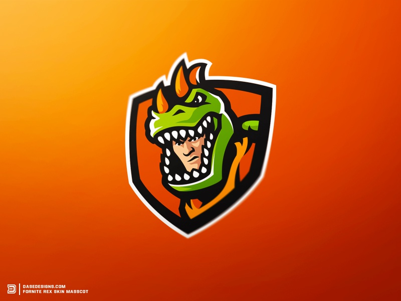 Le Club Esports Gameward: Fortnite Rex Mascot Logo By Derrick Stratton