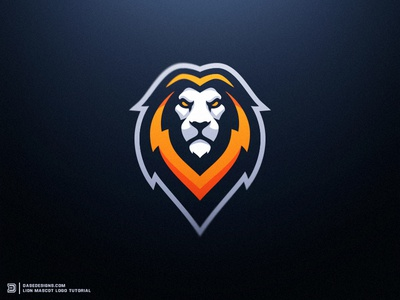 Lion eSports Logo Tutorial Dasedesigns