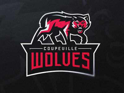 Coupeville Wolves Sports Logo official logo school logo high school illustration dasedesigns sports design identity design sports branding esports gaming mascot logos mascot logo wolf wolves logo design sports