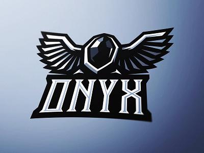 Onyx eSports Logo Design identity vector sports logo onyx esports gaming graphic design illustration mascot logo diamond black diamond dasedesigns gem stone onyx stone onyx esports