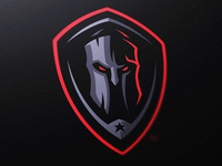Dark Spartan Shield Gaming Logo