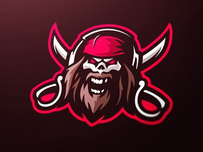 Pirate Skull Gaming Mascot Logo