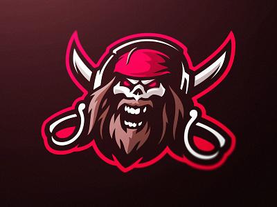 Pirate Skull Gaming Mascot Logo streamer twitch branding team logo pirate mascot dasedesigns fortnite fortnite logo gaming esports personal logo gaming logo mascot logo swords skull pirate capn jack