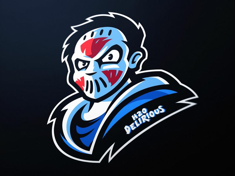H2O Delirious Mascot Logo by Dasedesigns logo design official logo illustration jason dasedesigns mascot jason mask mascot logos personal branding esports gaming gamer h2o delirious mascot logo h2o delirious